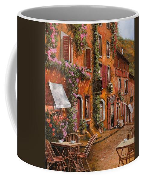 Cityscape Coffee Mug featuring the painting Il Bar Sulla Discesa by Guido Borelli