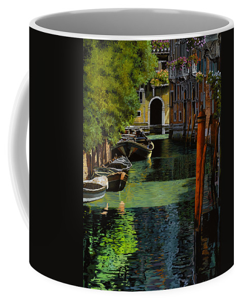 Venice Coffee Mug featuring the painting il palo rosso a Venezia by Guido Borelli