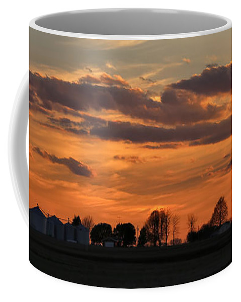 Theresa Campbell Coffee Mug featuring the photograph Illinois Sunset Strip IIi by Theresa Campbell