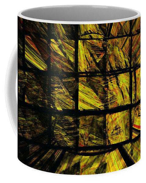 Abstract Digital Painting Coffee Mug featuring the digital art Illiusion 01 by David Lane