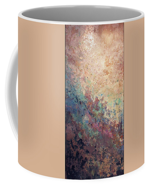 Mica Coffee Mug featuring the painting Illuminated Valley I Diptych by Shadia Derbyshire
