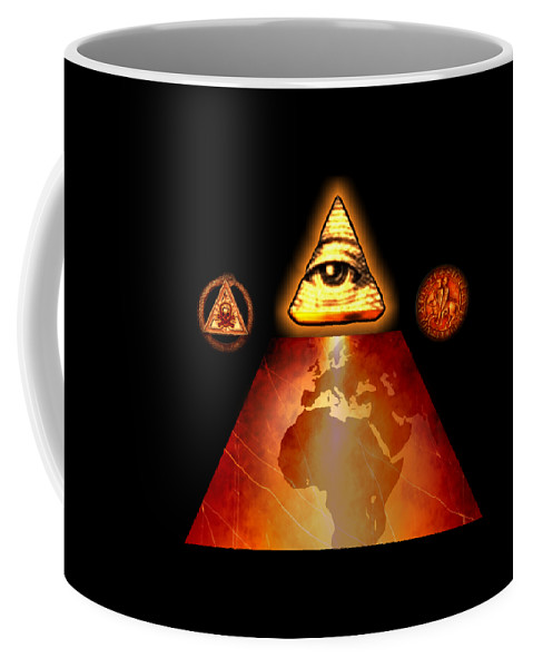Fantasy Coffee Mug featuring the painting Illuminati World By Pierre Blanchard by Esoterica Art Agency