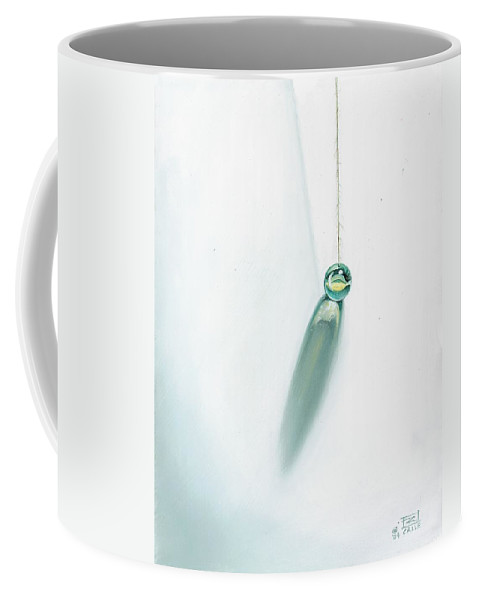 Marble Hanging By String Coffee Mug featuring the painting Illumination Within by Roger Calle
