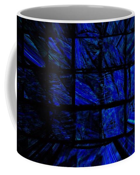 Abstract Digital Painting Coffee Mug featuring the digital art Illusion by David Lane