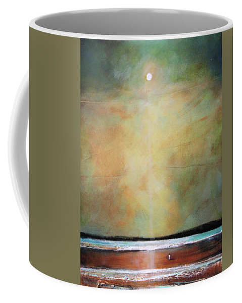 Spiritual Coffee Mug featuring the painting I'm Never Alone by Toni Grote