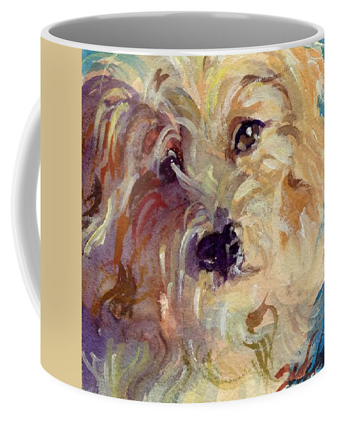 Cute Dog Coffee Mug featuring the painting I'm So Cute by Sheila Wedegis