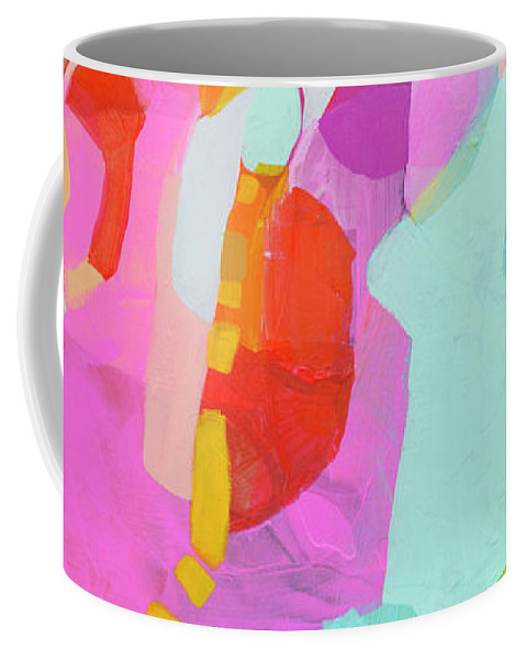 Abstract Coffee Mug featuring the painting I'm So Glad by Claire Desjardins