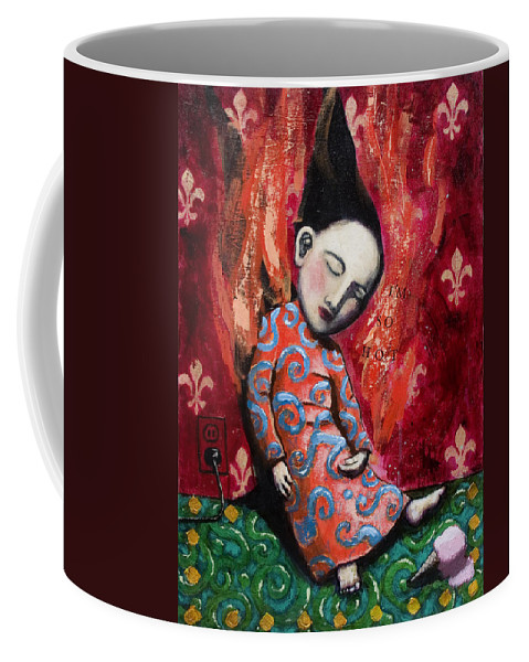 Funny Coffee Mug featuring the painting I'm So Hot by Pauline Lim