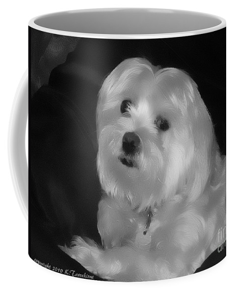 Dog Coffee Mug featuring the digital art I'm The One For You by Kathy Tarochione