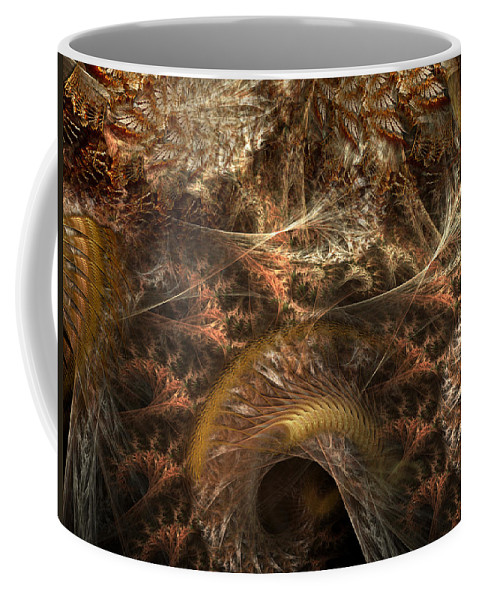 Abstract Coffee Mug featuring the digital art Image Of The Organism by Casey Kotas