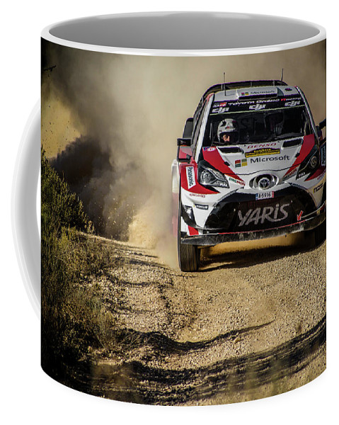 Michelin Coffee Mug featuring the photograph imagejunky_KB - RallyRACC WRC Spain - Esapekka Lappi / Janne Ferm by Imagejunky Art-Photography