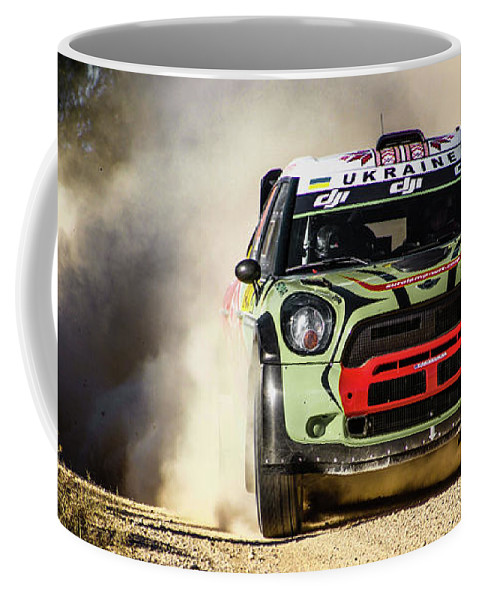 Michelin Coffee Mug featuring the photograph imagejunky_KB - RallyRACC WRC Spain - Gorban / Larens by Imagejunky Art-Photography