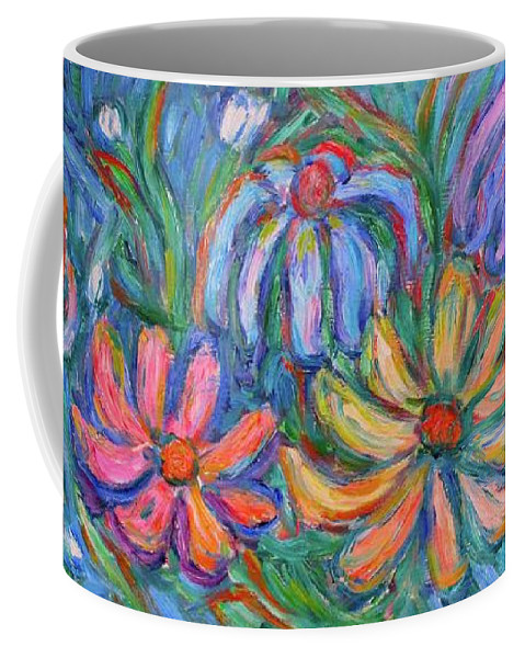 Flowers Coffee Mug featuring the painting Imaginary Flowers by Kendall Kessler