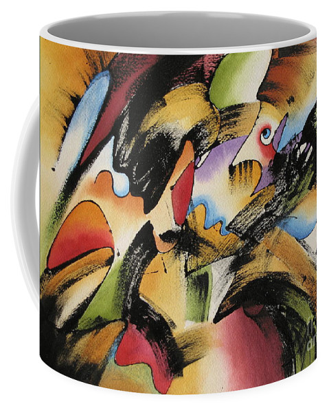 Imagination Coffee Mug featuring the painting Imagination by Deborah Ronglien