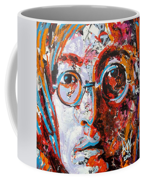 Bright Coffee Mug featuring the painting Imagine by Angie Wright