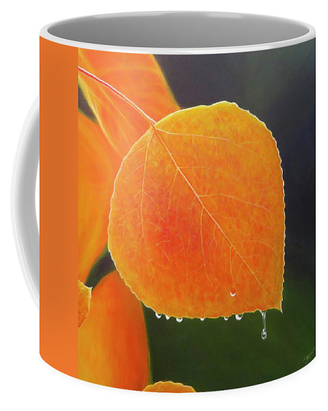 Aspen Coffee Mug featuring the painting Summer's End by Hunter Jay