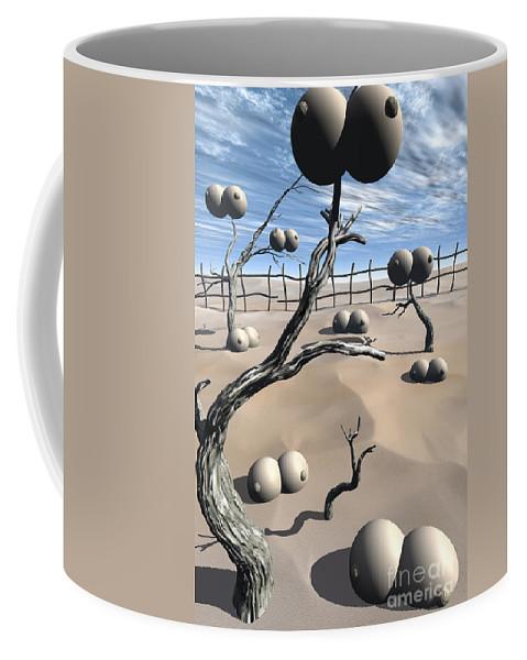 Humor Coffee Mug featuring the digital art Imm Plants by Richard Rizzo