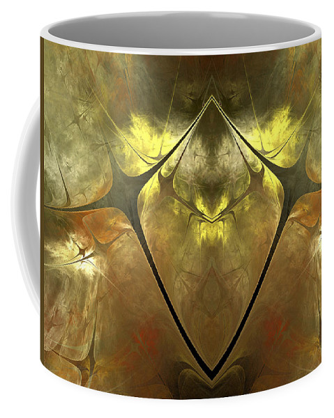 Fractal Coffee Mug featuring the digital art Imperial Topaz by Amorina Ashton
