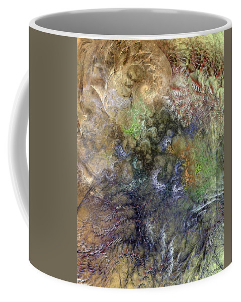 Abstract Coffee Mug featuring the digital art Imperialistic Miasma by Casey Kotas