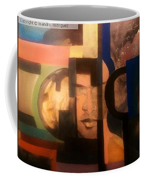 Coffee Mug featuring the painting Import Andromeda by Lisandro Rodriguez
