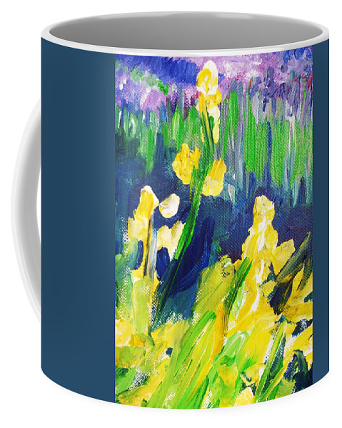 Impressionism Coffee Mug featuring the painting Impression Flowers by Eric Schiabor