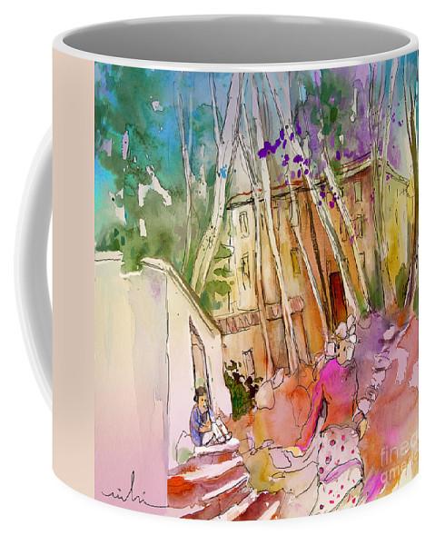 Capileira Coffee Mug featuring the painting Impression Of Capileira 01 by Miki De Goodaboom