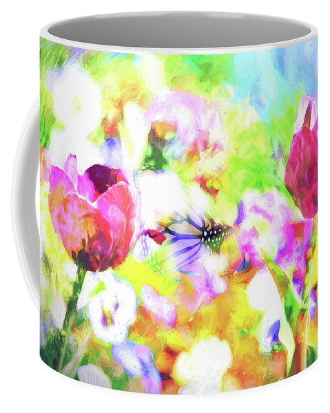Flower Coffee Mug featuring the photograph Impressionist Floral Xxxiii by Tina Baxter