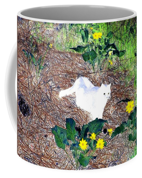 Impressions Coffee Mug featuring the digital art Impressions 4 by Will Borden