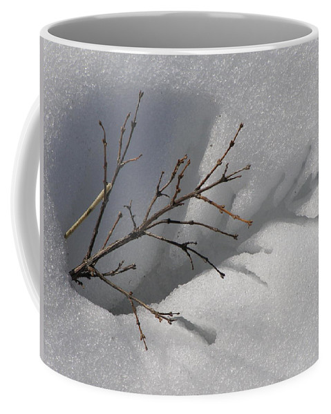 Snow Coffee Mug featuring the photograph Impressions by DeeLon Merritt