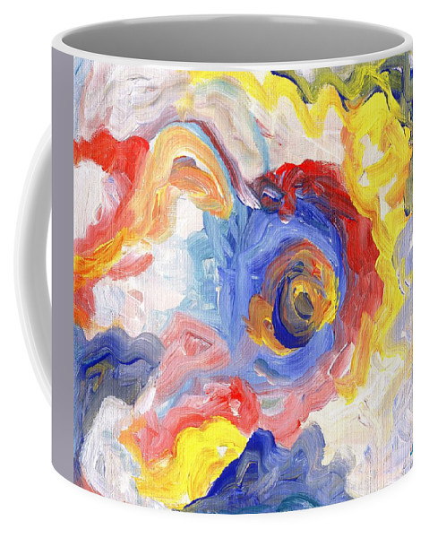 Contemporary Coffee Mug featuring the digital art Impulse Projected by Linda Mears