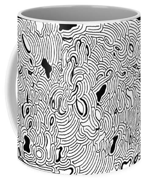 Mazes Coffee Mug featuring the drawing Impulsive by Steven Natanson