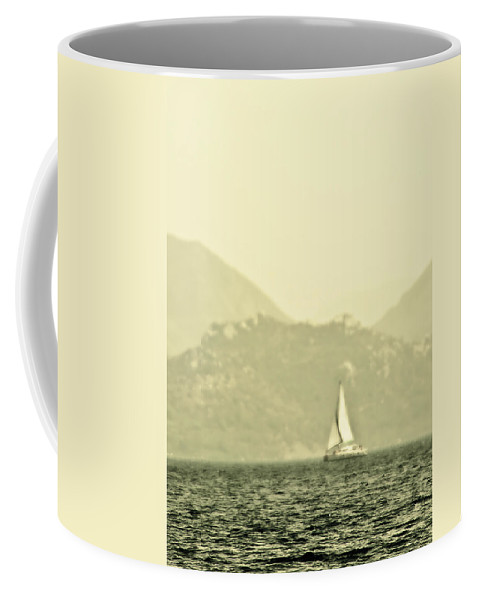 Boat Coffee Mug featuring the photograph In A Distance by Svetlana Sewell