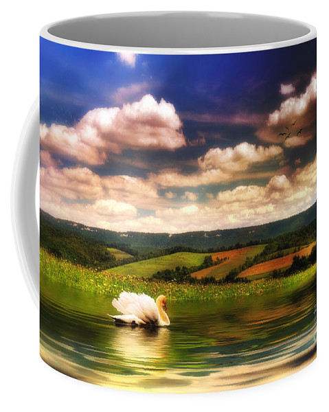 Nature Coffee Mug featuring the digital art In A Land Far Away by Lois Bryan