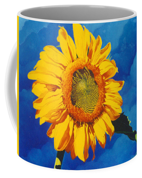 Sunflower Coffee Mug featuring the painting In All Its Glory by Jim Bob Swafford