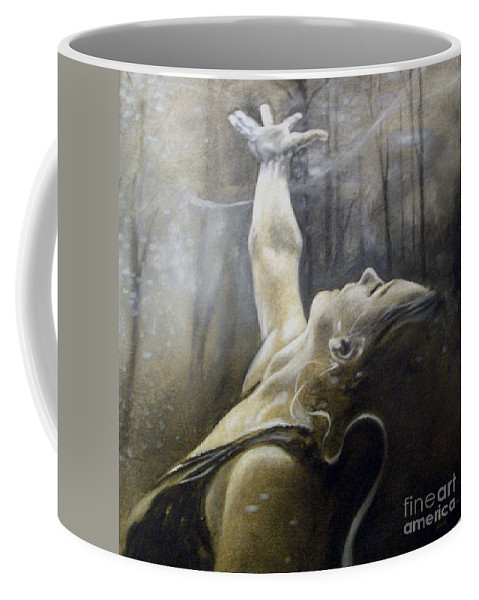 Spitfire Coffee Mug featuring the painting In Awe by Riek Jonker