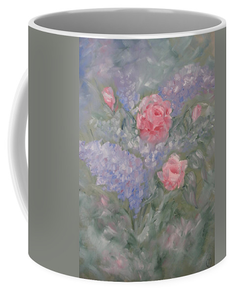 Flowers Coffee Mug featuring the painting In Bloom by Carrie Mayotte