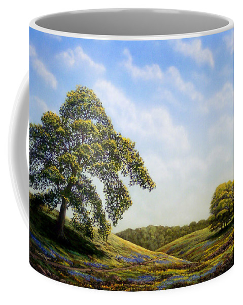 Landscape Coffee Mug featuring the painting In Bloom by Frank Wilson