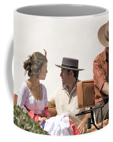 Flamenco Coffee Mug featuring the photograph In Flamenco Dress For The Bullfight by Mal Bray