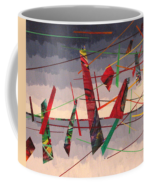 Abstract Coffee Mug featuring the painting In Flight by Rollin Kocsis