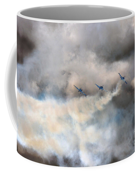 Blades Extra 300 Coffee Mug featuring the photograph In One Smoking Row by Angel Ciesniarska