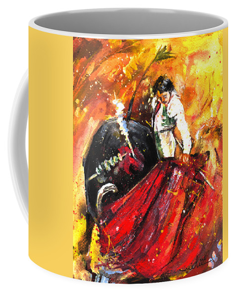 Animals Coffee Mug featuring the painting In Passing by Miki De Goodaboom