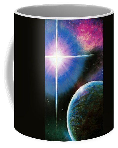 Landscape Coffee Mug featuring the painting In The Beginning by Susan Jenkins