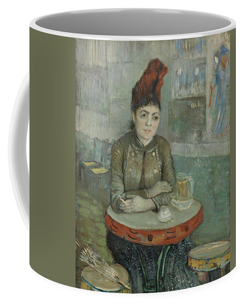 Beautiful Coffee Mug featuring the painting In The Cafe Agostina Segatori In Le Tambourin Paris January March 1887 Vincent Van Gogh 1853 by Artistic Panda