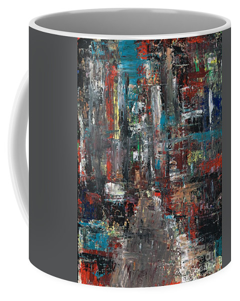 Cities Coffee Mug featuring the painting In The City by Frances Marino