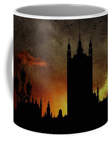 Westminster Palace Coffee Mug featuring the digital art In The Dark by Luigi Petro