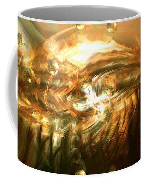 Abstract Art Coffee Mug featuring the digital art In The End by Linda Sannuti