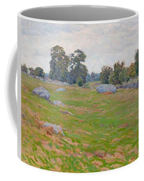 Edward Herbert Barnard Coffee Mug featuring the painting In The Fields by Edward Herbert Barnard