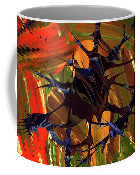 Abstract Coffee Mug featuring the photograph In The Forward Mind Abstract by Jeff Swan