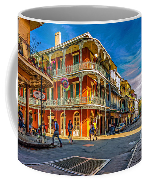 French Quarter Coffee Mug featuring the photograph In The French Quarter - 2 Paint by Steve Harrington