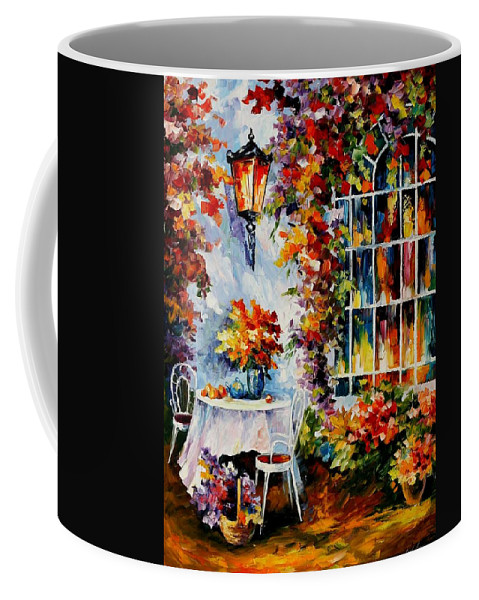 Afremov Coffee Mug featuring the painting In The Garden by Leonid Afremov